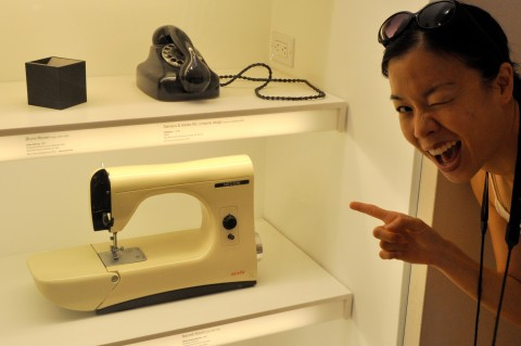 Another sewing machine on exhibit on MoMA